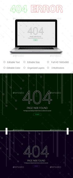 404 Error Page - 404 Pages Web Elements