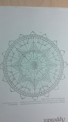 outline needle lace pattern