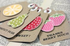 Cheeky fruit tags