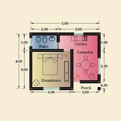 Best Modern House Design, Small House Design, Compact House, Micro House, Small House Plans, House Floor Plans, Studio Apartment Floor Plans, Saint Claude, Mini Loft