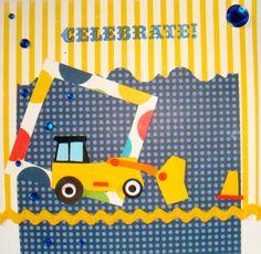Happy Birthday Handmade Greeting Card yellow Digger (11/552) - FREE SHIPPING on Etsy, £4.60