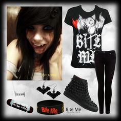 """Bite Me"" by carissa-chaos ❤ liked on Polyvore"