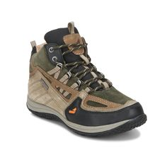 Push the limits through any weather and challenge any terrain with these Olive hiking shoes from the RockWolf collection by Red Chief. Built with a dynamic fit and crossover style to provide structure, stability and ankle support; these hiking shoes also have a sweat resistant inner lining, anti-bacterial socks, a bellow's toungue to keep the dust and debris out and punch on leather for better air circulation. Add these to all your hiking outfits to enjoy maximum style and comfort.
