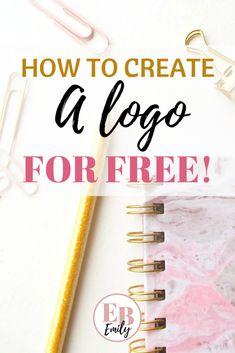 How to create a logo (free) - Popular Design Logo Design Site, Logo Site, Bakery Logo Design, Blog Logo, Logo Design Template, How To Design Logo, Free Logo Design, Ui Design, Graphic Design