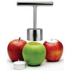 Easy tool to make apples into tea light holders :)