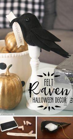 poe inspired raven halloween decor - Raven Halloween Decorations