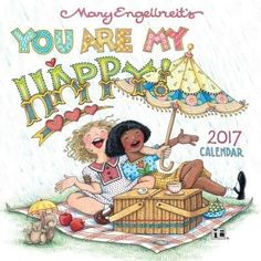 Mary Engelbreit 2017 Mini Wall Calendar: You Are My Happy! Format: 2017 Mini/Small Wall Calendar Size Closed: W x H Size Opened: W x H Grid Size: Small Rectangle Binding: Stapled Mary Engelbreit, Fractal Art, Fractals, Paper Dolls, Whimsical, Fine Art, Drawings, Mini, Prints
