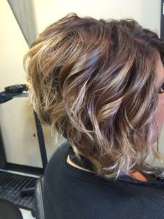 awesome Ombre on short hair-stacked bob haircut...