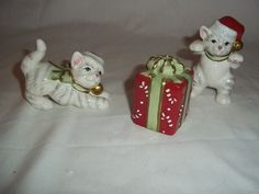 Fitz and Floyd Kitty Kringle Two Kitten Package