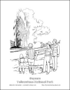 Yellowstone coloring page