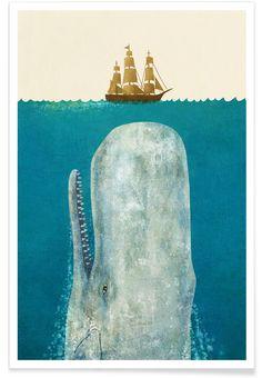 The Whale als Premium Poster door Terry Fan | JUNIQE