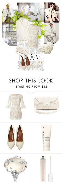 """all white"" by kristina-bishkup ❤ liked on Polyvore featuring Victoria Beckham, Anja, Anna Sui, Reece Hudson, Givenchy, Chantecaille, Mother of Pearl and Witchery"