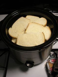 Make bulk French toast in the Crock-Pot for brunch. | 38 Clever Christmas Food Hacks That Will Make Your Life So Much Easier