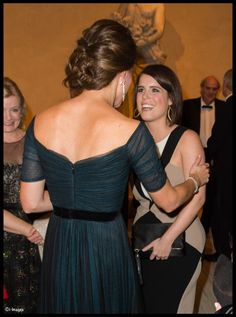 Better look at the gorgeous back of the Jenny Packham gown, plus Kate's updo
