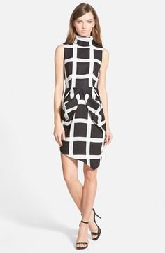 Finders Keepers the Label 'Pink Skies' Windowpane Print Dress available at #Nordstrom