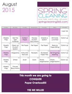 Spring Cleaning 365 - spring clean your home the easy way. one task. each day. all year.