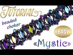 Risultati immagini per mystic bracelet tutorial Seed Bead Jewelry Tutorials, Free Beading Tutorials, Beaded Jewelry Patterns, Handmade Bracelets, Beaded Bracelets, Necklaces, Beaded Dog Collar, Bracelet Tutorial, Beaded Choker