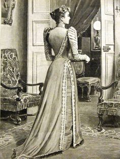 1894 silk faille day gown, House of Worth