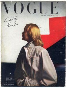 British Vogue July 1944 Country Number Vintage high fashion magazine   Hprints.com