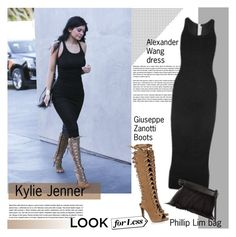 """Kylie Jenner Style"" by vanjazivadinovic ❤ liked on Polyvore featuring T By Alexander Wang, Giuseppe Zanotti, 3.1 Phillip Lim, KylieJenner and polyvoreeditorial"