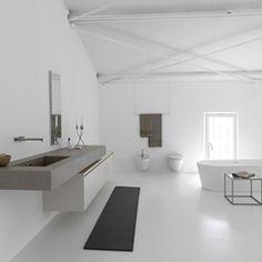 Meuble de salle de bain suspendu en céramique Kerlite MB3/TWENTY Composition 2 - Porto Venere