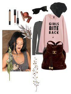 """RiRi inspired"" by okidokiloki ❤ liked on Polyvore featuring Betty Barclay, Givenchy, Black, Ray-Ban, Chanel, Bare Escentuals, Gucci, shu uemura, Pier 1 Imports and OKA"