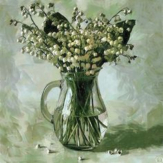 Lily Of The Valley Painting by Vasiliy Agapov - Lily Of The Valley ...