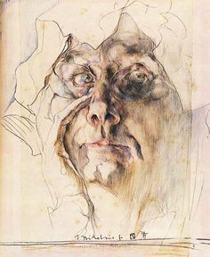 Figure Painting, Painting & Drawing, Horst Janssen, Illustrator, Human Figure Drawing, Sketches Of People, Artist Sketchbook, Abstract Portrait, Art Portfolio