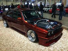 Smooth on Hartge wheels with a blown engine. Purists may question the choice of ditching the old but I think best mix of ol'skool boxy charme and new(er) technology with some extra ponies on tap. Thumbs up for the builder. Bmw E30 M3, Bmw Alpina, Street Racing Cars, Bmw Classic Cars, Bmw 3 Series, Bmw Cars, Sexy Cars, Jdm, Cars And Motorcycles