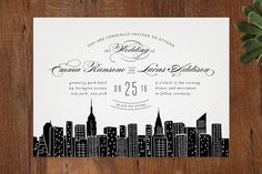 Big City- New York City Wedding Invitations by Hooray Creative at minted.com skyline for save the dates?