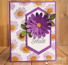 AEstamps a Latte. Daisy Delight Stampin' Up, Pop Up Flower Cards, Happy Birthday Flower, Homemade Cards, Stampin Up Cards, Note Cards, Making Ideas, Cardmaking, Birthday Cards