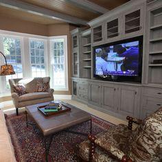 Custom Built In Entertainment Center Living Room Pinterest - Built in cabinets entertainment center design pictures remodel