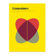 Art Prints featuring Existentialism by Genis Carreras Poster Design Inspiration, Design Poster, Book Design, Graphic Design, Basic Shapes, Simple Shapes, Poster Graphics, Shape Books, Shape Posters