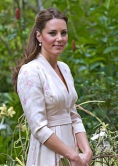 Prince William, Duke of Cambridge and Catherine, Duchess of Cambridge visit the Botanic Gardens in Singapore during their Far East tour, where they view the white Dendrobium Memoria Princess Diana orchid dedicated to William's late mother, as well as the Vanda William Catherine orchid named in honor of the Royal Couple.