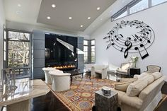 These luxury living room design ideas run from minimal & modern, to traditional & over the top extravagance. See pictures of luxury living rooms to find your Living Room Interior, Interior Design Living Room, Living Room Furniture, Living Room Designs, Casual Living Rooms, Living Spaces, Modern Living, Modern Wall, Design Salon