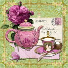 Para mis lector@s amantes del té.  A mi me encanta!!!   Enlaces:   http://plout-gallery.artistwebsites.com/featured/tea-time-jp2579-jean-plo...
