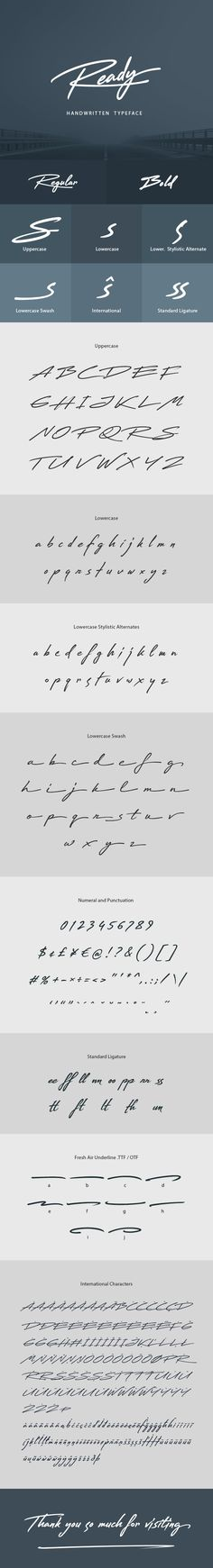 Ready Handwritten Font by sunnytudu ¡®Reasdy¡¯ is a nice handwritten Typeface. It gives a complete authentic feel on your text. Total 377 glyphs available including al