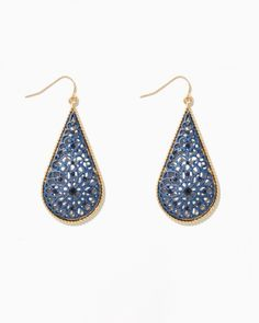 Matte Filigree Drop Earrings