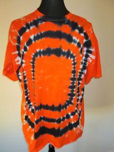 2XL Tie Dye Tshirt Orange and Black OSU by AlbanyTieDye on Etsy, $23.00
