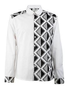 Side panel shirt-Black & White