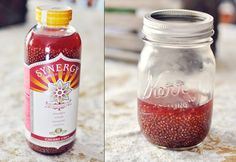 DIY Cherry Chia Kombucha- I need to do this- drink of my life right here