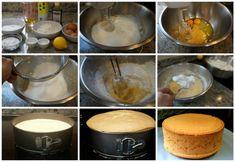 Preparación del bizcocho esponjoso básico