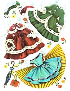 inkspired musings: Aprons, Appetizers and free paperdolls with lots of dresses!