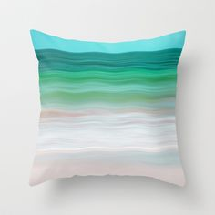 SEA-RENITY Throw Pillow by Catspaws - $20.00