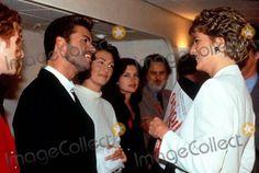 Princess Diana_kd Lang_george Michaels_mick Hucknall Symphony World Aids Day Concert Wimbley ,London 12-01-1993 Alpha/Globe Photos,inc.