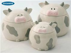 Lil' Moo Cow Canister Set (3-pc.) by Del Rey at Food Network Store