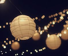 Would love backyard lights like this!