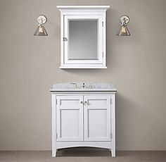 RH's Cartwright Single Vanity:With clean lines and a timeless aesthetic, Cartwright makes a striking statement in any bath.