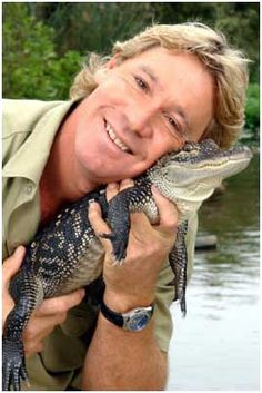 Steve Irwin  He may have been a little crazy but his passionate love of all creatures is inspiring