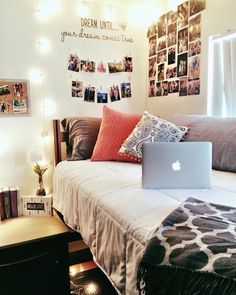 Dorm Room College Aesthetic Black And Dorm Bedding Ideas By Color [Dorm Room] Trends Boho . White And Lavender Dorm Room In 2019 College Room Decor . Home Design Ideas Apartment Room, Home, Girl Room, Dorm Rooms, Room Goals, Dorm Room Styles, Dorm Room Designs, Dorm Room Walls, Dream Rooms